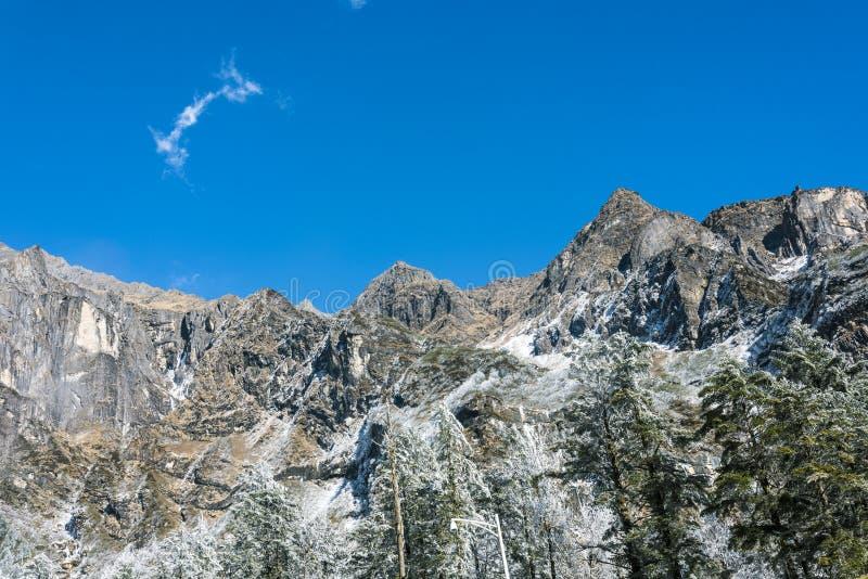 Snow Mountain peaks royalty free stock photo