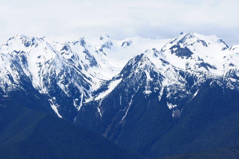 Snow mountain ridge stock photography