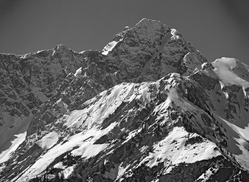 SNOW_IN_THE_MOUNTAINS imagens de stock