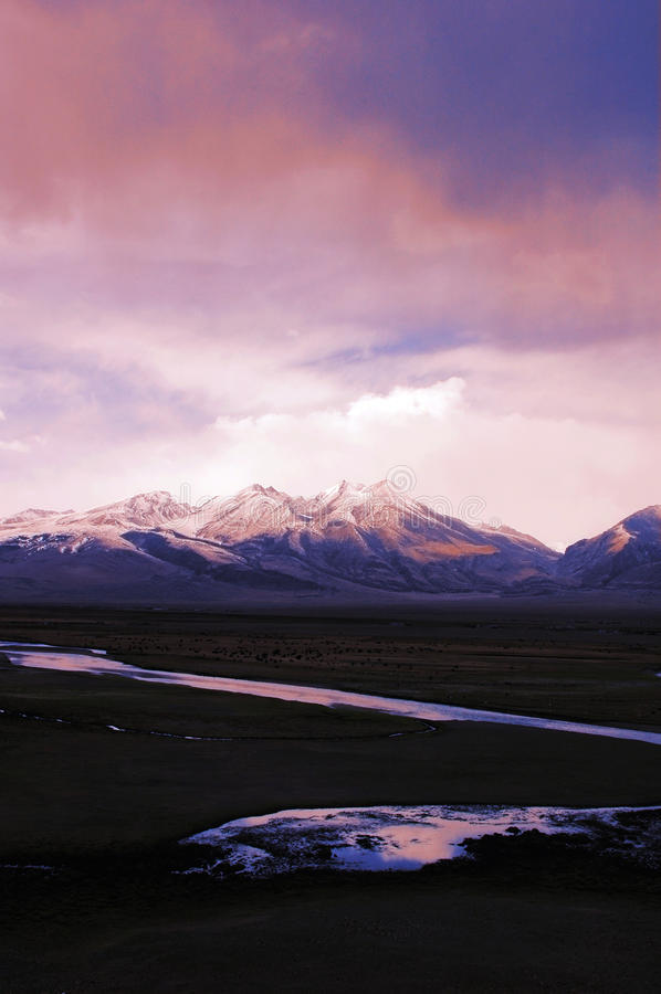 Free Snow Mountains And A River In Tibet Stock Photos - 12398513