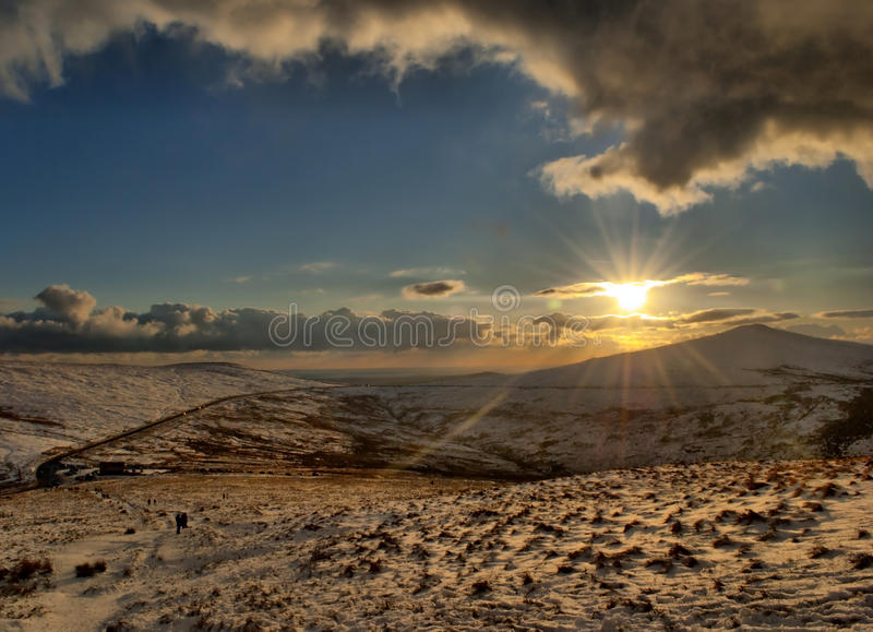 Download Snow On The Mountains With Direct Sunlight Stock Photo - Image: 12383502