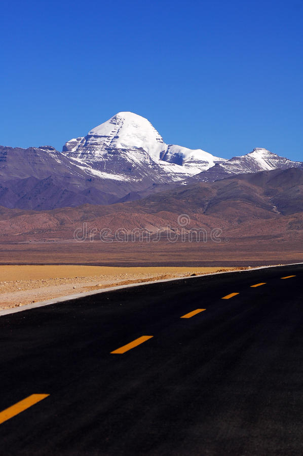 Download Snow Mountains and highway stock photo. Image of travel - 12490082