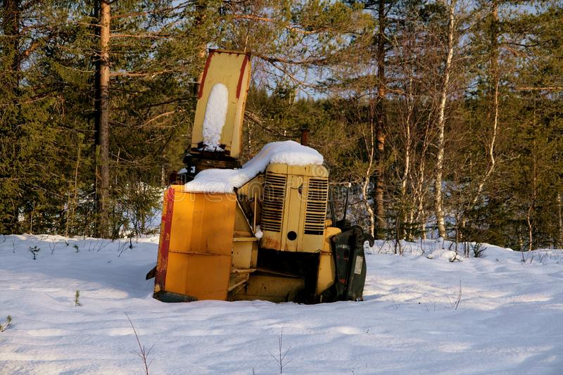 Snow mower royalty free stock photography