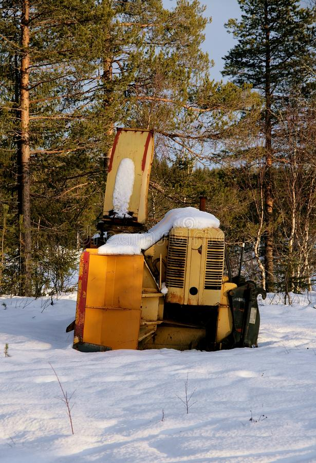 Snow mower stock images