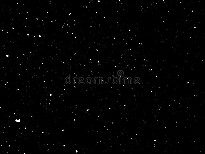 Snow in Night, Snow on black background royalty free stock photography