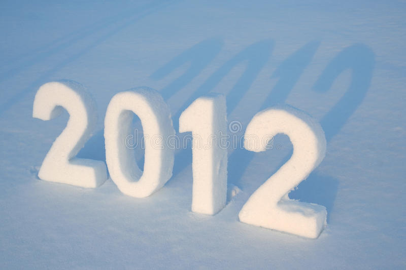 Snow Number 2012 Royalty Free Stock Photo