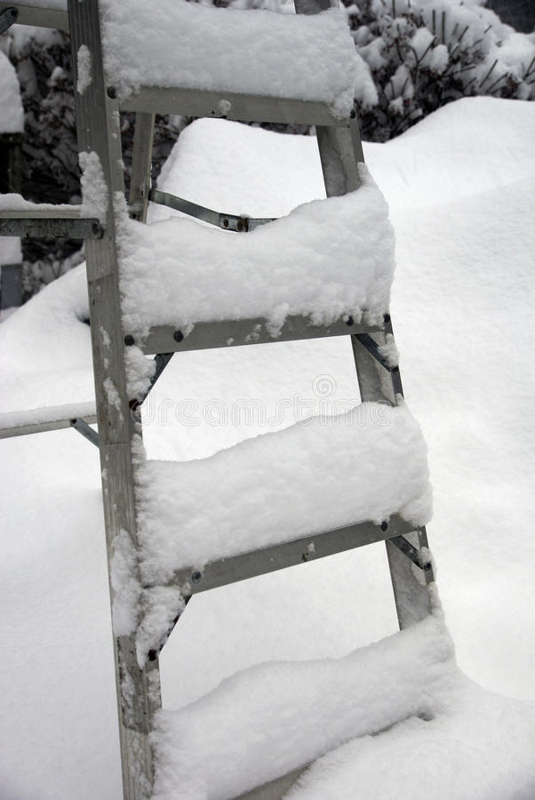 Free Snow On The Ladder Royalty Free Stock Photos - 20113668