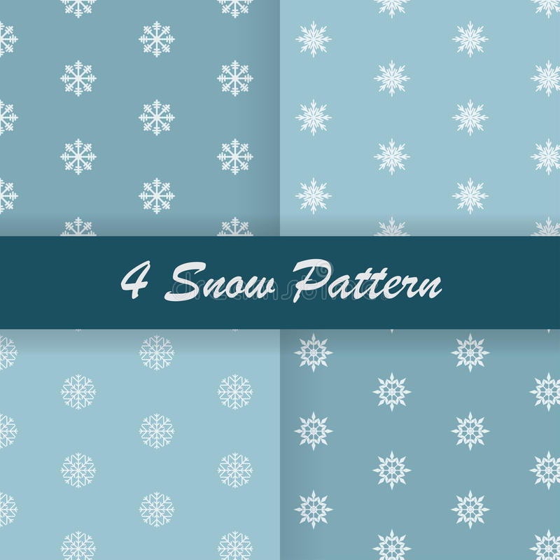 4 Snow pattern stock photo