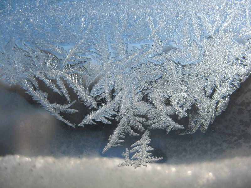 Snow pattern on winter window. This is snow pattern on winter window royalty free stock photo
