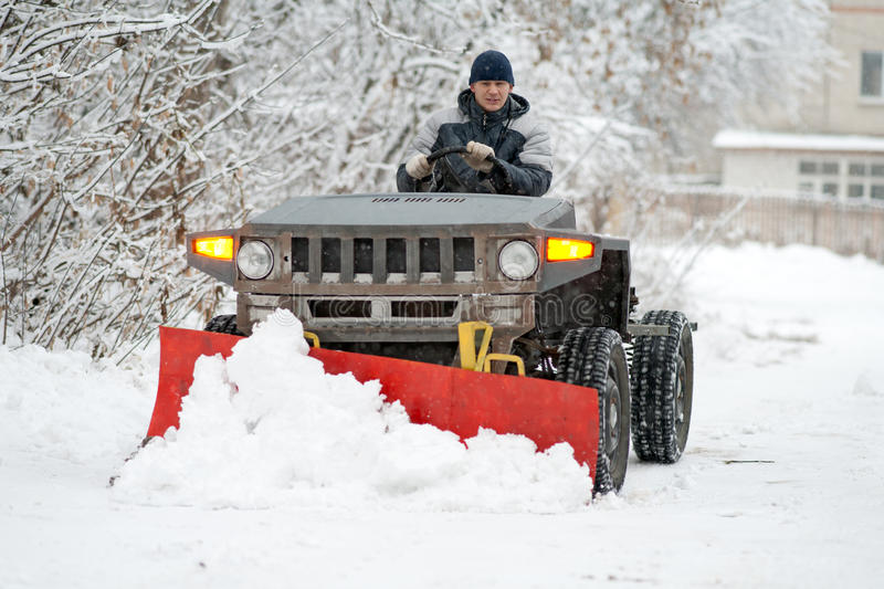 Download Snow-plow stock image. Image of snowplough, heavy, remove - 22414877