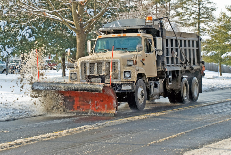 Snow Plow In Action Royalty Free Stock Images