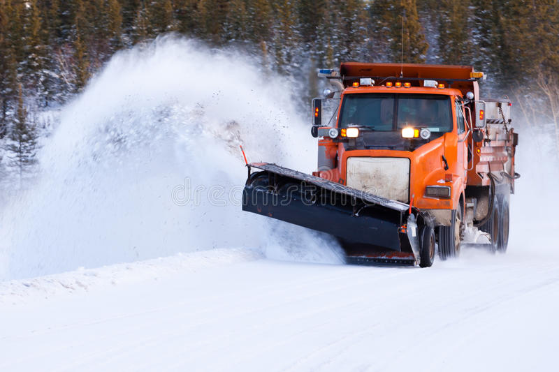 Download Snow Plow Clearing Road After Winter Snow Storm Stock Photo - Image of blanketed, machinery: 93381284