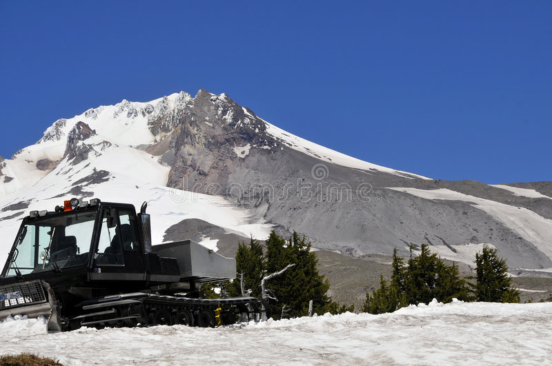 Snow Plow on Mt.Hood royalty free stock photo
