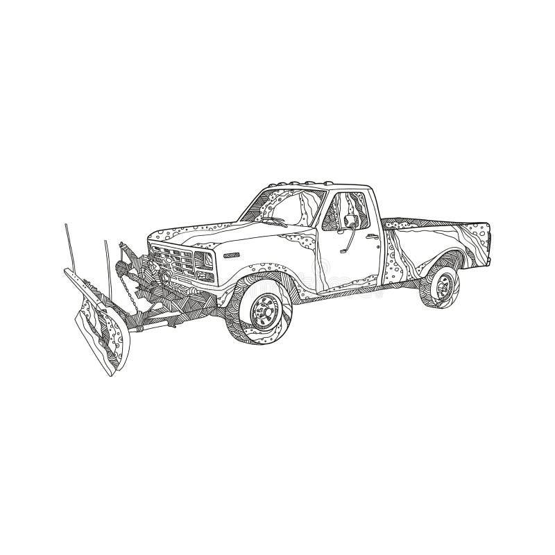 Free Snow Plow Truck Doodle Art Royalty Free Stock Photos - 110417448