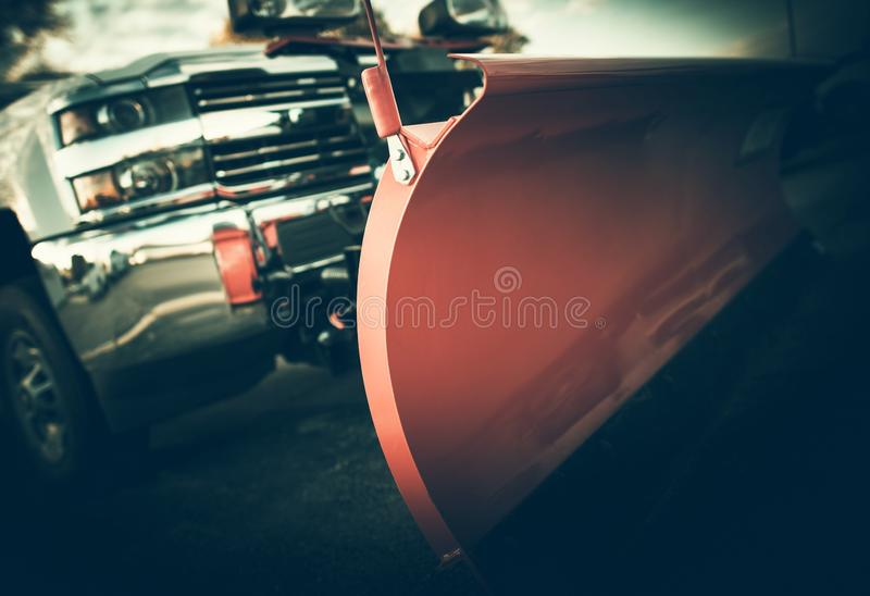 Snow Plowing Contract royalty free stock images