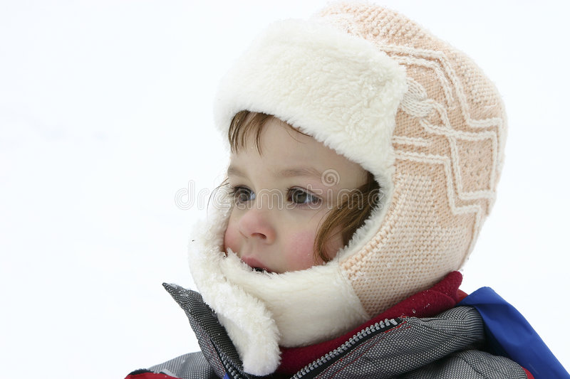 Snow portrait royalty free stock images