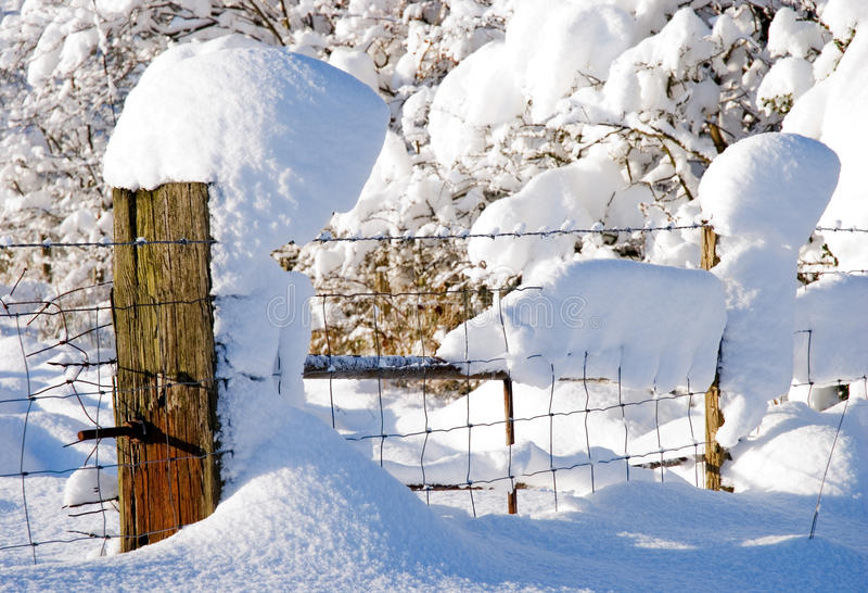 Snow Post Stock Photos
