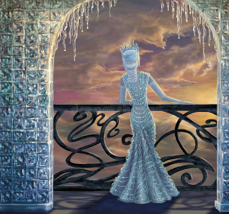 Snow queen vector illustration