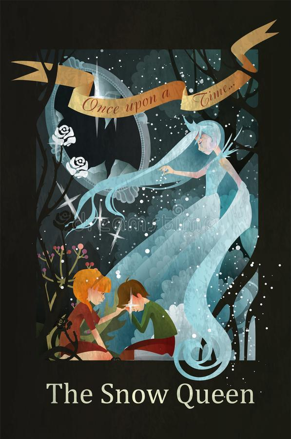 Snow Queen fairy tale illustration vector illustration