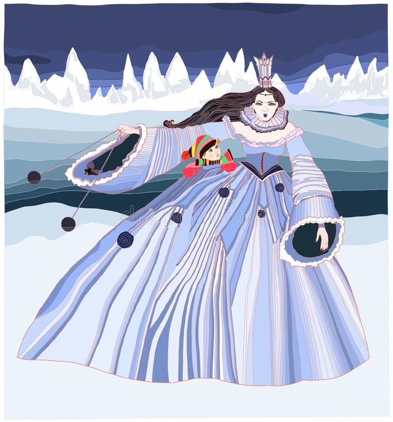 Snow Queen. Illustration - Andersens fairy tales stock illustration