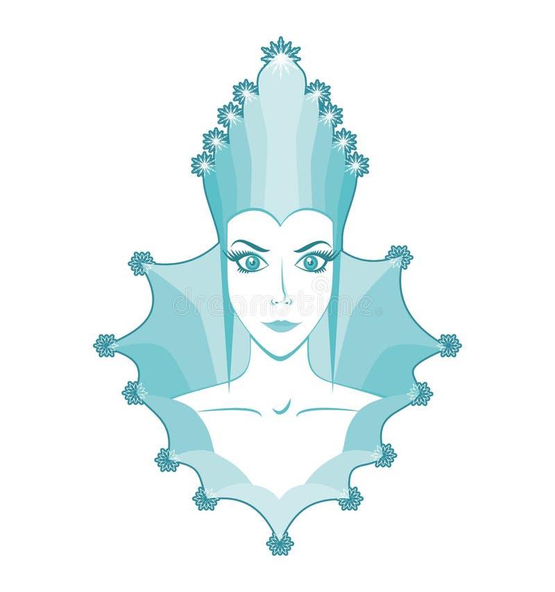 Snow queen royalty free illustration