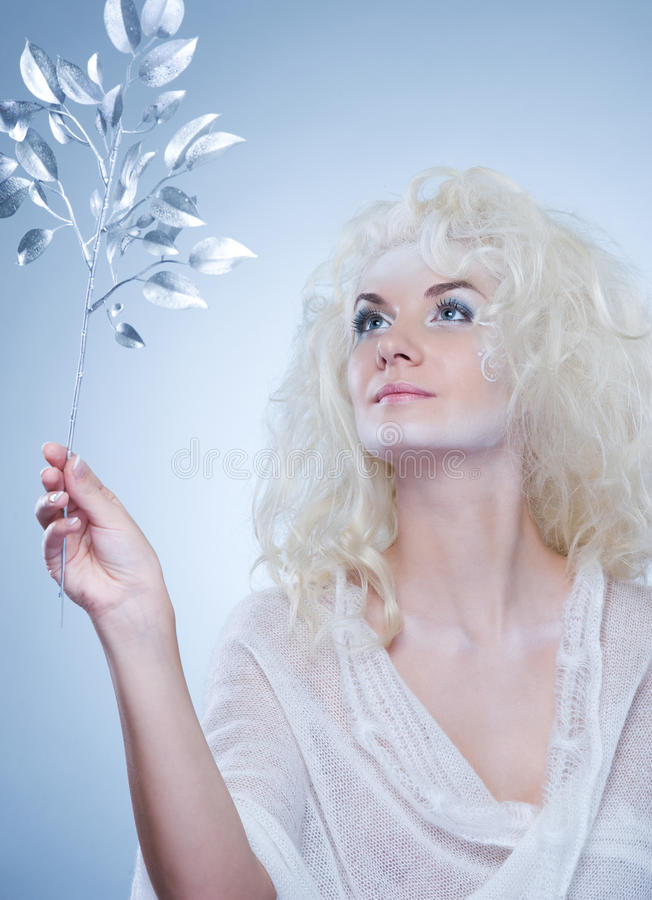 Free Snow Queen With A Magic Twig Royalty Free Stock Photo - 11915625