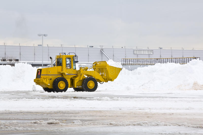Download Snow removal stock photo. Image of bulldozer, road, snowbank - 18432554