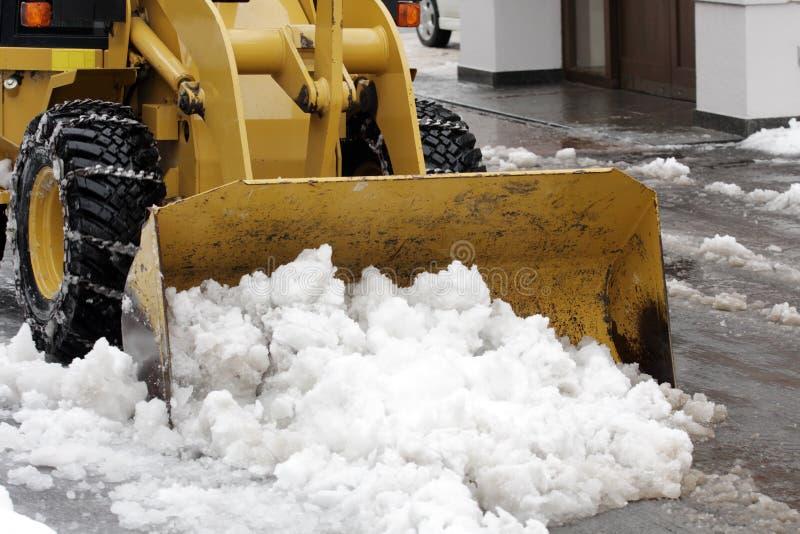 Snow removal stock photos
