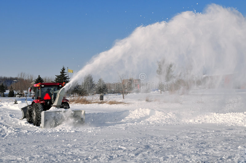 Snow removal royalty free stock photo