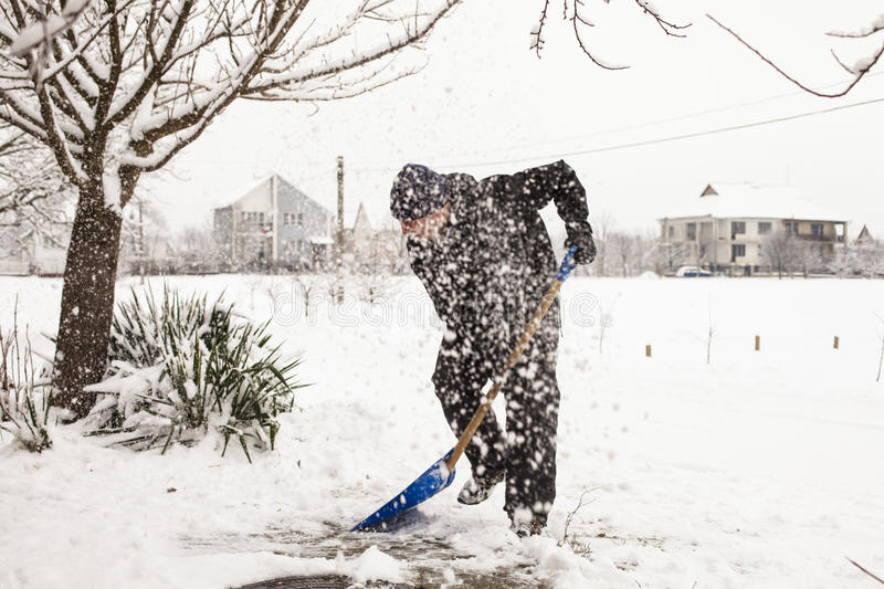 Snow removal stock image
