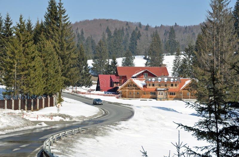 Snow resort stock photo
