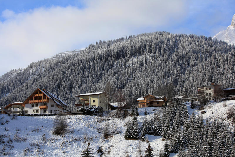 Snow resort of St. Anton, Austria
