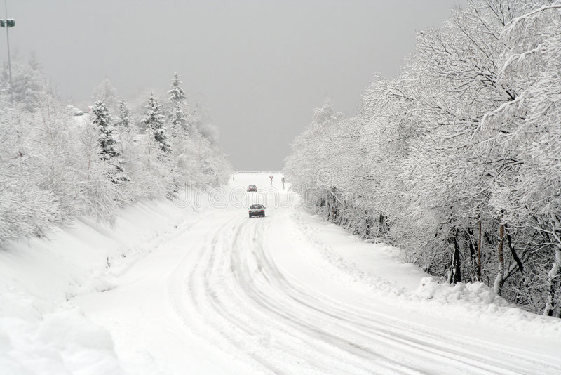 Download Snow on the road stock photo. Image of seasons, transportation - 3618244