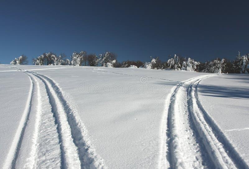 Snow roads royalty free stock photos