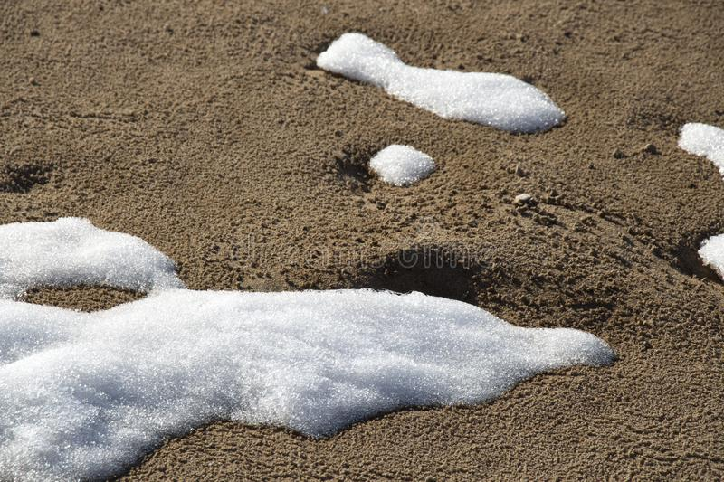 Snow in the sand royalty free stock images