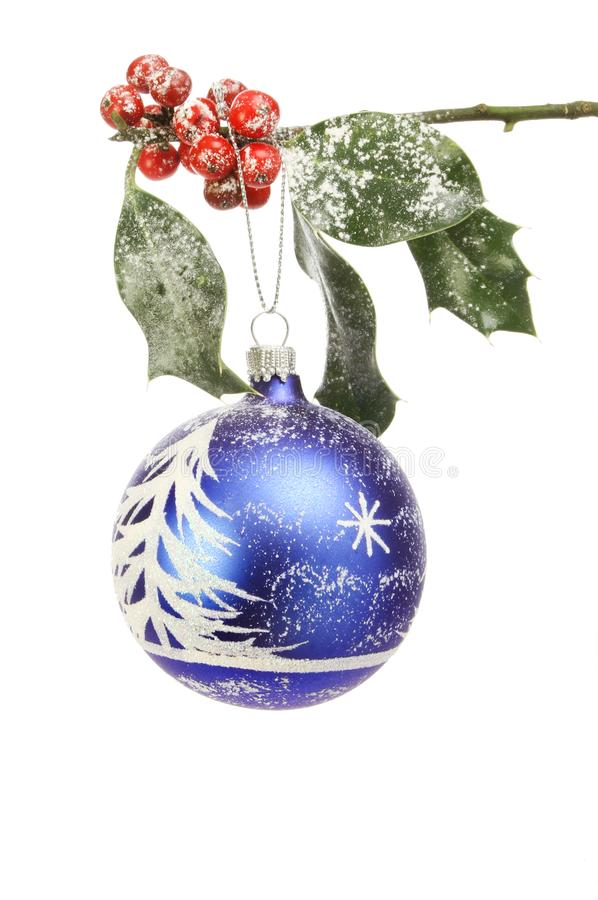Download Snow scene bauble in holly stock image. Image of xmas - 105387385