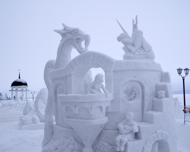 Download Snow Sculpture Contest To Hyperborea In Petrozavodsk Royalty Free Stock Photos - Image: 29762588