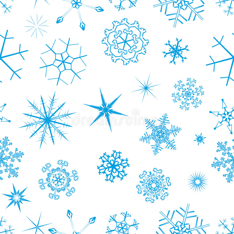 Snow seamless backround. Snowflake patterned swatch background vector illustration