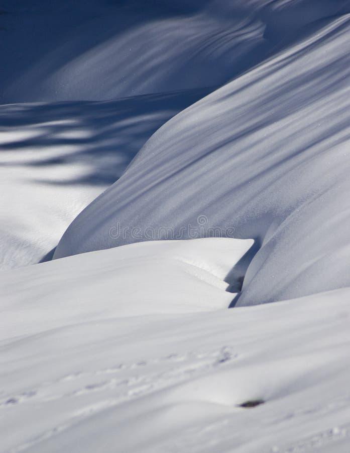 Snow shapes stock photos