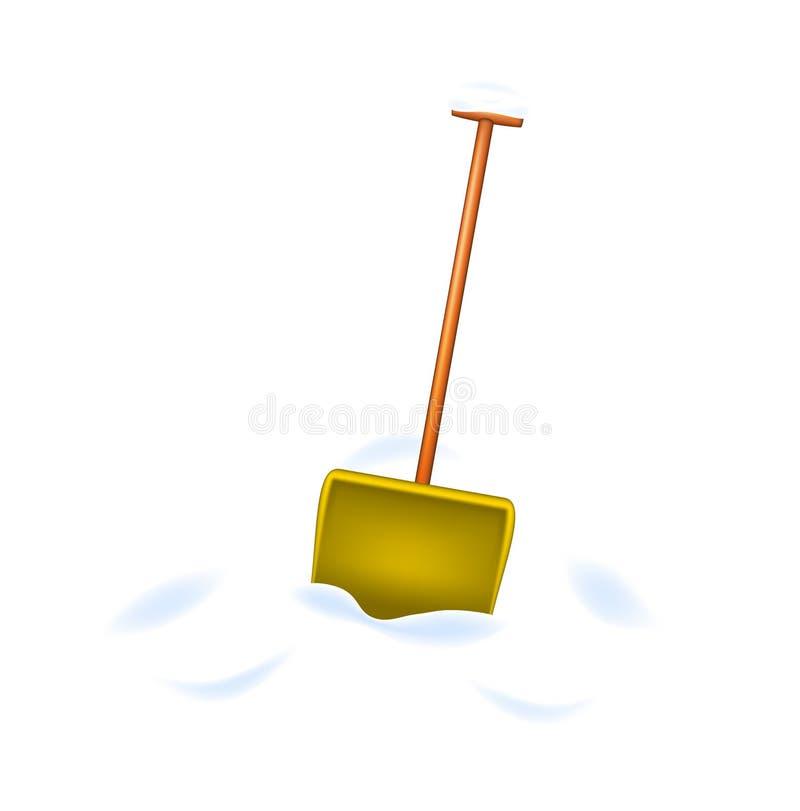 Download Snow Shovel Standing In Snow Stock Vector - Image: 26218047