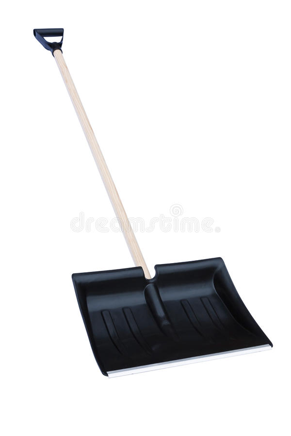 Snow shovel white background royalty free stock image