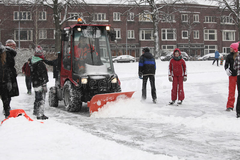 Download Snow shovel at work editorial photography. Image of cold - 23462607