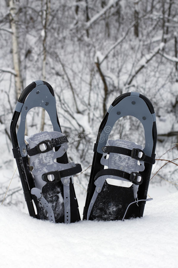 Snow skor i snowen arkivbilder