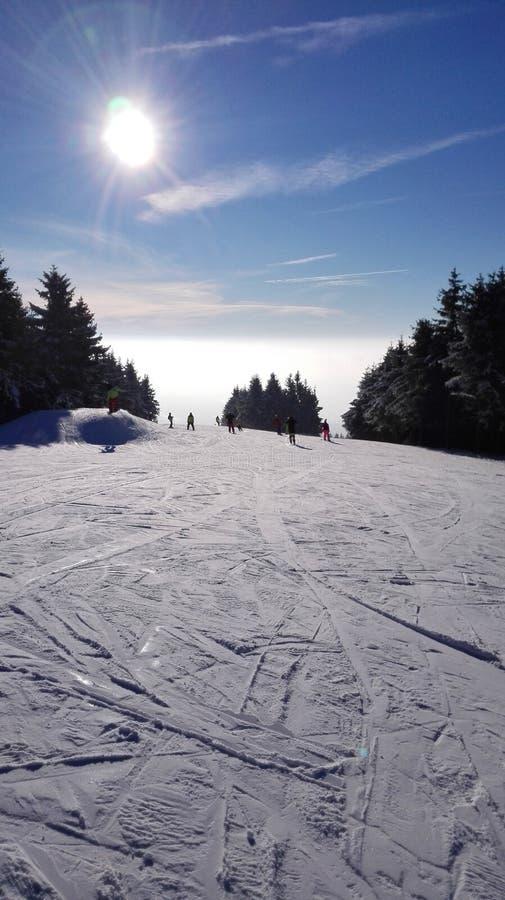 Snow, Sky, Winter, Piste stock photos