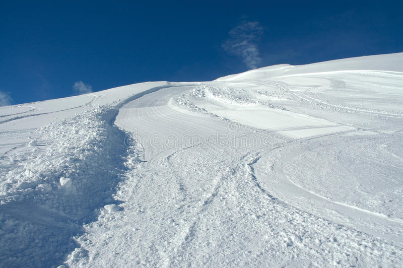 Snow slope at Val d'Isere. stock image