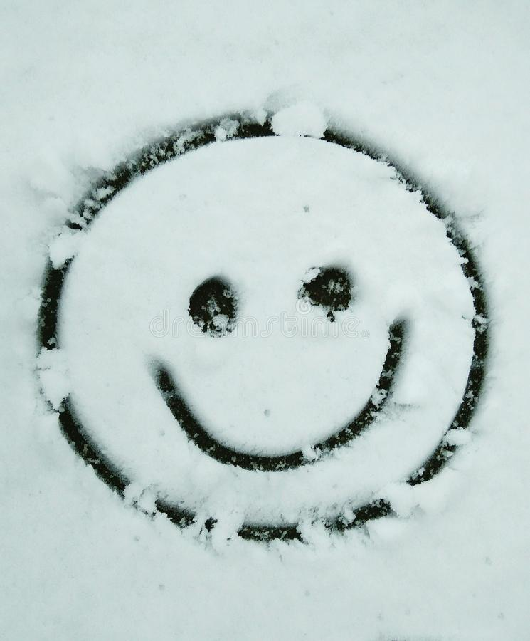 Snow smile stock photography