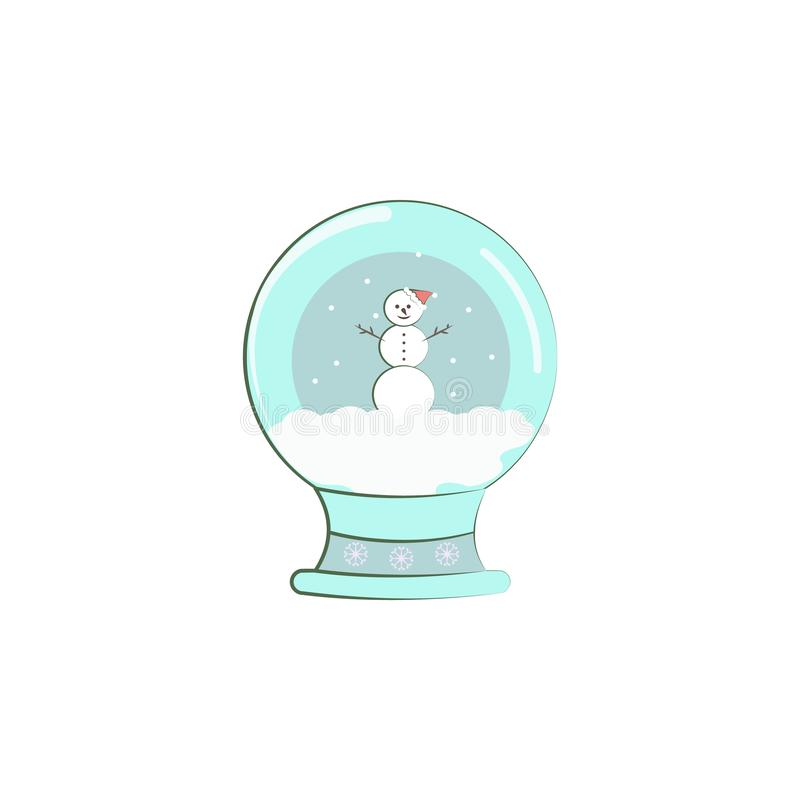 snow, snowman, Christmas lamp icon. Element of Christmas for mobile concept and web apps. Colored snow, snowman, Christmas lamp il royalty free illustration