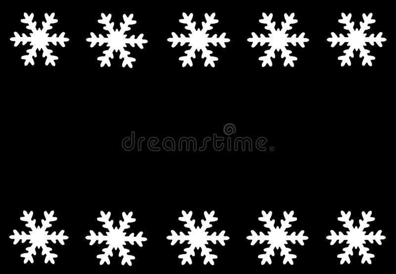 Snow stars border royalty free stock photography