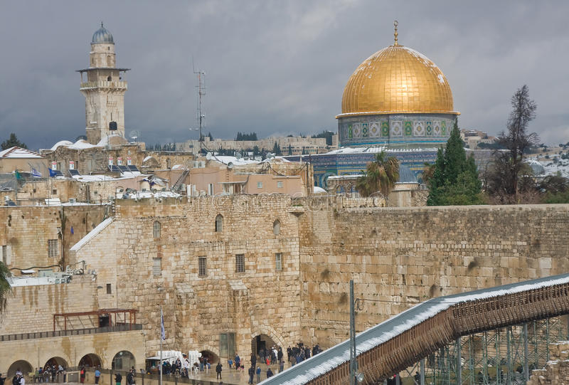 Snow On Temple Mount Editorial Photography
