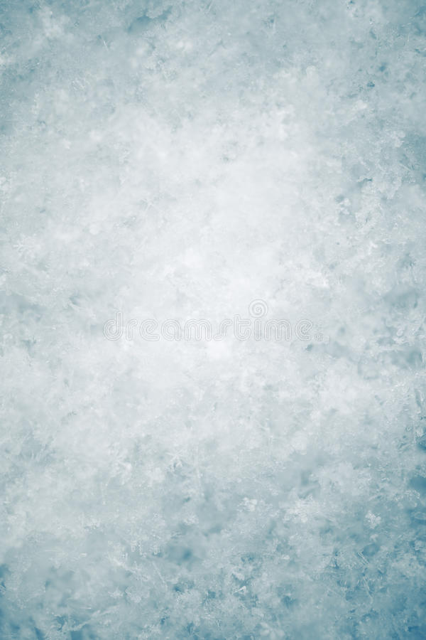 Snow texture. With blue tone, closeup view royalty free stock photography
